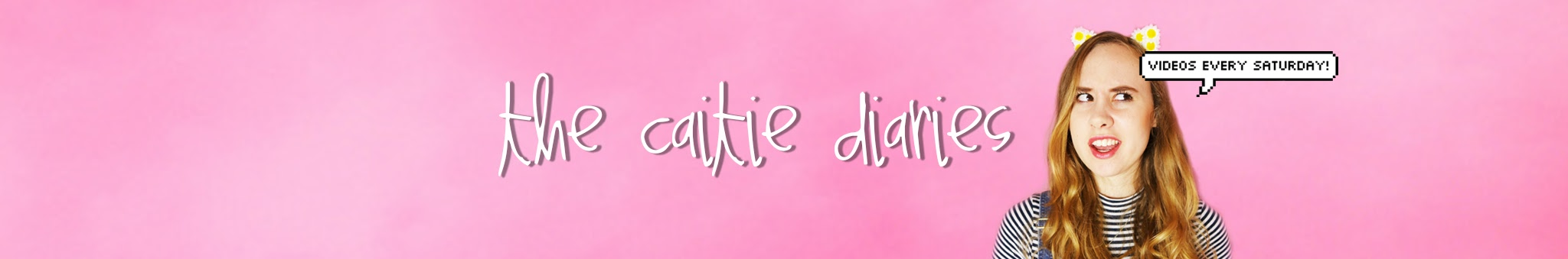 The Caitie Diaries YouTube Banner